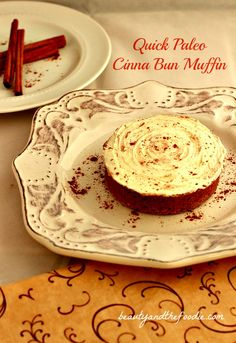 Quick Paleo Cinna Bun Muffins / fast, easy, grain free, frosted cinnamon bun. |beautyandthefoodie.com
