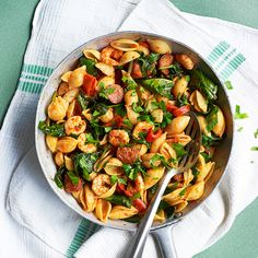 This Spanish influenced pasta dish is packed full of flavour.
