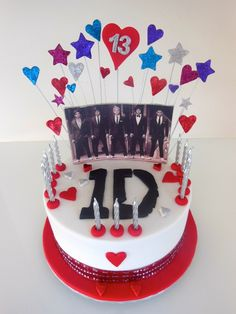One Direction cake  www.enticingcakes.com.au  https://www.facebook.com/pages/entICING-cakes/446691245352652?ref=hl