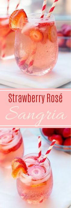 Strawberry Rosé Sangria It's authoritatively summer.- Strawberry Rosé Sangria It's authoritatively summer and fruity, reviving beverages are going full bore! I think this is my third or fourth sangria formula and I feel l… Sangria Rosé, Strawberry Sangria, Rose Sangria, Strawberry Roses, Sangria Recipes, Strawberry Alcohol Drinks, Party Recipes, Healthy Sangria Recipe, Recipes