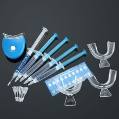 Anself Dental Equipment Teeth Whitening Dental Bleaching System Tooth Whitener Whitening Gel Dental Trays Care Whitening Home Kit Teeth Tools -- Continue to the product at the image link. (This is an affiliate link and I receive a commission for the sales)