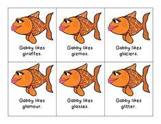 GABBY THE GOLDFISH LIKES G WORDS! G ARTICULATION FLASHCARDS - TeachersPayTeachers.com