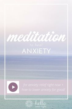 Free guided meditation to heal anxiety. How to lower anxiety, find inner-peace, personal development, emotional healing, sensitive soul Meditation Mantra, Guided Meditation For Anxiety, Meditation For Beginners, Meditation Benefits, Healing Meditation, Meditation Techniques, Daily Meditation, Meditation Practices, Mindfulness Meditation