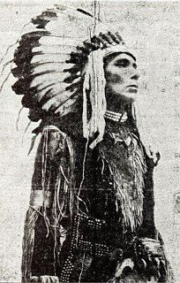 Abenaki Indians: Chief Dark Cloud Photographed in 1918