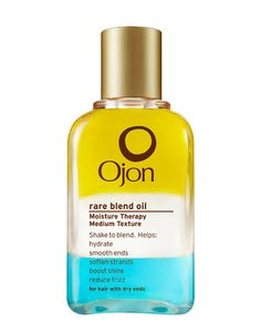 """""""Ojon Rare Blend Oil Moisture Therapy is a super hydrating oil that works wonders on my dry, brittle strands. Since I'm a bottle blonde, my hair is constantly parched and in need of TLC. A few drops of this lightweight elixir and my hair bounces right back to a happy, healthy state.""""   Emily Macculloch, assistant beauty and fashion editor"""