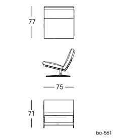 bo-561 Chair 2D | Fabricius & Kastholm for bo-ex furniture. http://www.bo-ex.dk/project/bo-561/