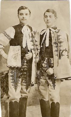bogihelmeczi: Portrait of two groomsmen by elinor04 AWAY for a while on Flickr.   Area of town Trenčín, Považie region, Western Slovakia.
