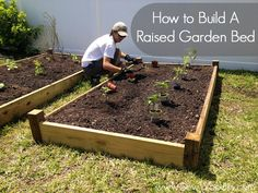 Raised garden bed DIY - so easy. We should all be growing our own veggies, what else could be better than harvesting your own veggies.