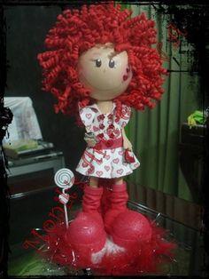 Lady in Red fun foam doll