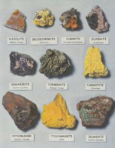 Minerals, National Graphic, 1954