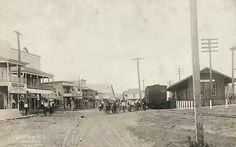 Old train station on Depot Rd in Dayton Texas, around  1900