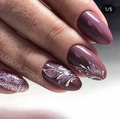 New nail art trends bring you unlimited nail design inspiration - Page 59 of 117 - Inspiration Diary Purple Nail Art, Pretty Nail Art, Short Square Nails, Nagel Blog, Oval Nails, Nude Nails, Coffin Nails, New Nail Art, Stylish Nails