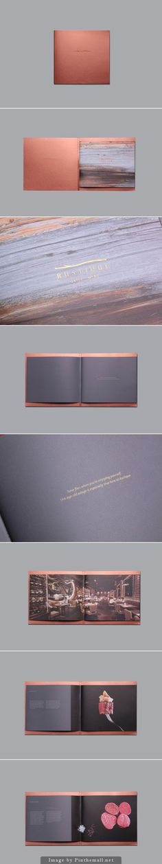 Rustique / by Brown Fox Studio. Really Love oversized covers at the moment. Also loving the bronze tones and lack of type.