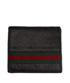 Gucci Men's Black Guccissima Leather & Heritage Stripe Bi-Fold Wallet (28523). Get the lowest price on Gucci Men's Black Guccissima Leather & Heritage Stripe Bi-Fold Wallet (28523) and other fabulous designer clothing and accessories! Shop Tradesy now