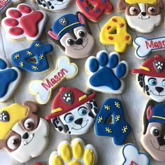Party Bags, Birthday Party Favors, Party Favours, 4th Birthday, Paw Patrol Birthday Cake, Paw Patrol Party, Cake Table Birthday, Birthday Cookies, Torta Paw Patrol