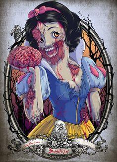 Les princesses de Disney... version zombie ! | Souvent copié, jamais collé !
