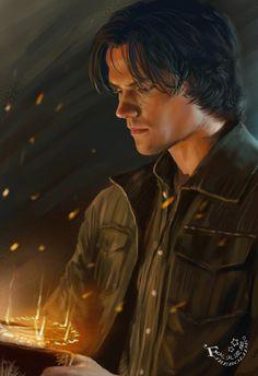 Towards the light by firebolide.deviantart.com #sam-winchester #fan-art  #supernatural