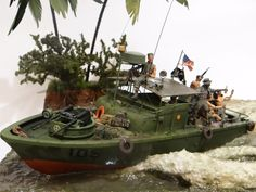 Résultat d'images pour Vietnam War Military Dioramas Scale Model Ships, Scale Models, Brown Water Navy, Steampunk Furniture, Military Armor, Military Modelling, Military Diorama, Vietnam War, Vietnam History
