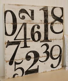 maybe it is the mathematician in me, but I love this number board...