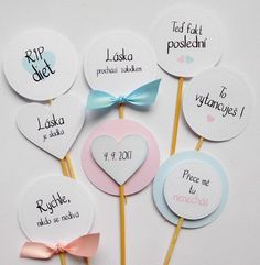Svatební zápichy / Zboží prodejce Přání od Katy | Fler.cz Wedding Tips, Our Wedding, Dream Wedding, Sweet Bar, Marry You, Autumn Wedding, Perfect Wedding, Wedding Planner, Diy And Crafts