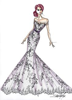 Fall 2013 collection sketch | Maggie Sottero | brides.com