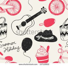 summer holiday #background by mhatzapa, via ShutterStock #vector #pattern