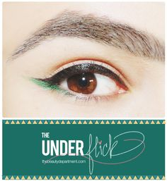 Wake up that cat eye and underline the wing! Click through to see how easy it is to do and the side-by-side full face comparisons with and without an Under Flick!