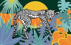 Cheetah. Digital Illustration by Casiegraphics. www.casiegraphics.com #casiegraphics