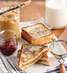 It's peanut butter jelly time! Peanut Butter and Jelly Monte Cristo Sandwiches.
