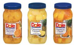 $0.75 off Jar of Dole All Natural Fruit in 100% Juice Coupon on http://hunt4freebies.com/coupons