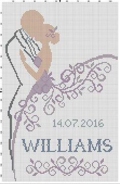 Snazzy Wedding cross stitch charts free 05 When you sew the cross stitch you will set a stitch in each one of the squares that h… Cross Stitch Love, Cross Stitch Alphabet, Cross Stitch Charts, Cross Stitching, Cross Stitch Embroidery, Hand Embroidery, Embroidery Patterns, Wedding Cross Stitch Patterns, Cross Stitch Designs