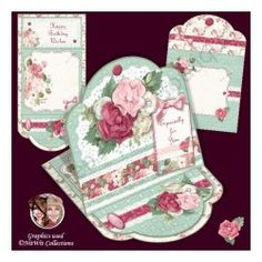 Flowers & Lace Easel Card