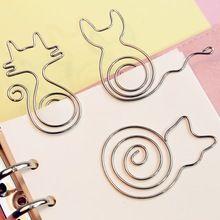 5 unids/lote clips De Papel del metal modelado gato pájaro flor lindo clip de encuadernación papelería de oficina clips de papel con kawaii tarjeta de felicitación(China (Mainland))