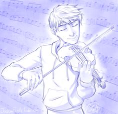 Jack playing the violin. Posting because I play the violin :)