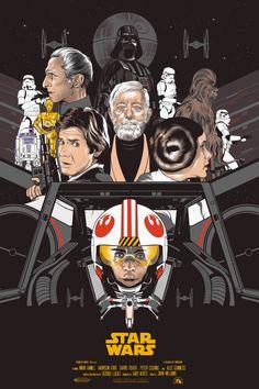 Original STAR WARS Trilogy Poster Art Set by Vincent Rhafael Aseo