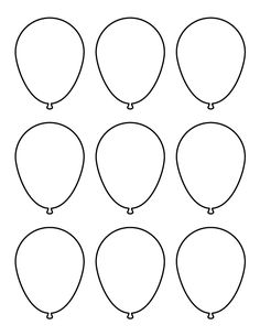 Inventive image in balloon templates printable