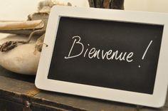 Ardoise d'écolier, cadre en bois blanc - Bibelots & Cie - Bloomingville - Léa mundis