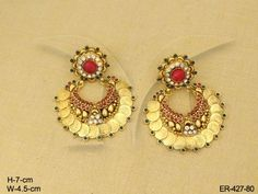 Ginny Laxmi Coin Tops Temple Jewellery Earrings