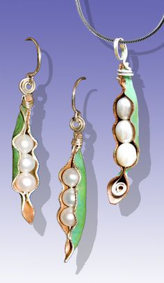 Pearl Pod Set (Copper from roof, Pearls, Sterling Silver) by Scott Lesh (visit LeDanse.com)