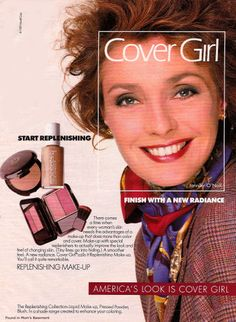 vintage celebrity advertising | 1989 ad for Cover Girl featuring actress Jennifer O'Neill - Found in ...