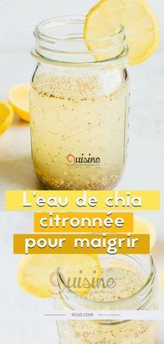 L'eau de chia citronnée pour maigrir