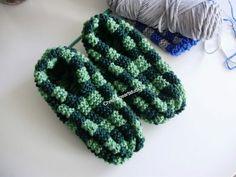 Knitted Phentex slippers hand knitted for men