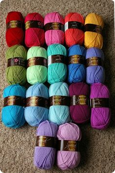 I saw this yarn on this blog and I ordered this set. I love it. the colors are beautiful and the yarn is soft and great to work with. They have free shipping too! All this yarn was $39.00. I am definately going to order more.