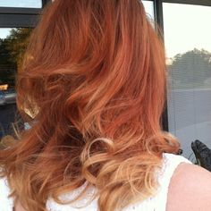 Beautimoose copper ombré on @fartprincess! #ombre #redhair #hairstylist