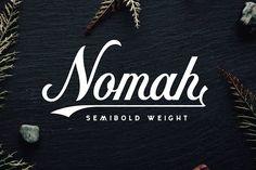 Nomah Semibold + Bonus by Nicolas Fredrickson on @creativemarket