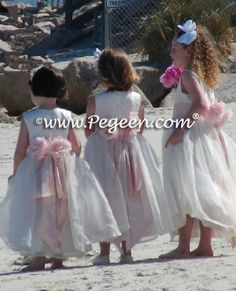 Little Girls Flower, Baptism, First Communion Dress Ideas...