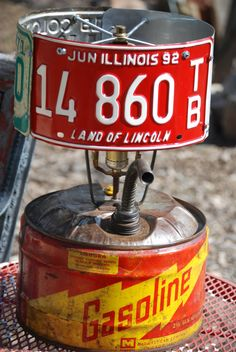 Gas Can Lamp. Rat Rod Lamp for you Man Cavers by CatkinsCreations