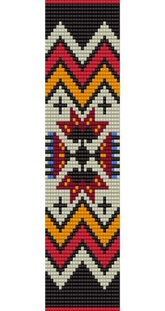 . Beading Patterns Free, Seed Bead Patterns, Tribal Patterns, Square Patterns, Peyote Patterns, Native American Patterns, Native American Beading, Seed Bead Bracelets, Seed Bead Jewelry