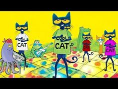 PETE THE CAT and the Cool Cat Boogie by Kimberly & James Dean | Dance-Along! - YouTube