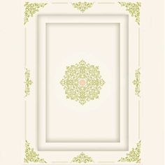 Avignon Ceiling Stencil for bedroom and or living room